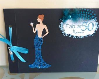 40th Birthday Card, 50th Birthday Card, Personalised Birthday Card, Handmade Card, Fab At 40, Fab At 50