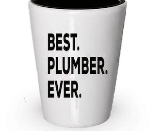 Plumber Shot Glass, Best Plumber Ever, Plumber gift, Gift for Plumber , Birthday Gift, Christmas Present