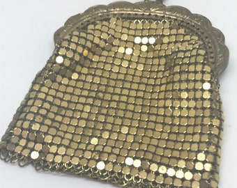 Gold Plated Mesh Coin Purse