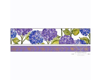 Washi Tape Set - Hydrangea - Floral Washi Tape - Planner Accessories - Scrapbooking - Masking Tape - Decorative Tape - Planner Washi  385131