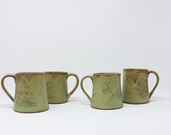 Mug,Mugs,Ceramic Mug,Mug Set,Green Mug,Coffee Mug,Tea Mug,Drinkware Set,Ceramic Cup,Teacup,Handmade Ceramic Mug,Gift Mugs,Stoneware,Rustic