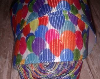 Party Balloons Grosgrain Ribbon