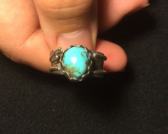 Turquoise stone with Silver Band