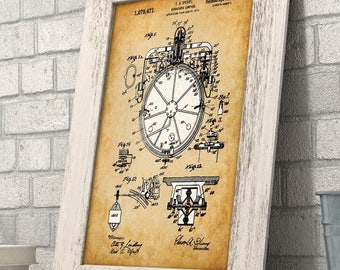 Gyroscopic Compass - 11x14 Unframed Patent Print