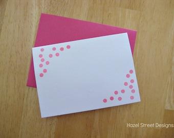 Bright Pink Confetti Card