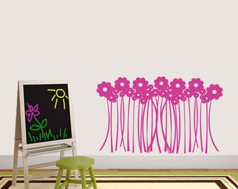 Flower Grass - Flowers and Shapes Wall Decals