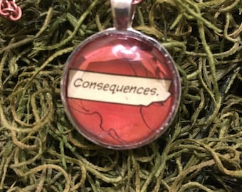 Consequences Comic Book Necklace