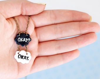 TFIOS Charm Pendant Necklace / The Fault In Our Stars / John Green / TFIOS Jewelry / TFIOS Necklace Pendant / Okay? Okay / Hazel Grace