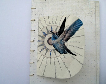 Artist  book, handmade book, Coptic stitch book, hand bound book, writers gift,  Book Art, gift for her, literary gift, book gift