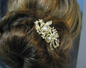 Bridal Hair Comb Wedding Jewelry Wedding Hair Comb Swarovski Pearl Swarovski Crystal Rhinestone Hair Comb  Bridal Jewelry
