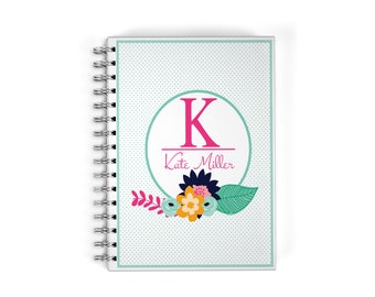 Personalized Monthly Planner - Monogrammed Notebook
