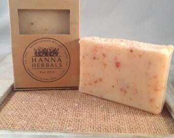 Mountain Rain Confetti Soap - 4 ounce soap - citrus soap - pine soap - musk soap