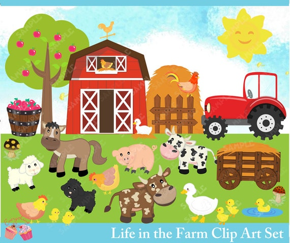 life in the farm clipart set rh etsy com farm clip art for free farm clip art for free
