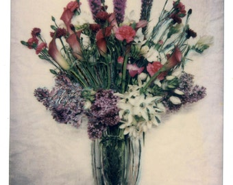 SX70 Photo Print Mix Bouquet Lillies Color Photography