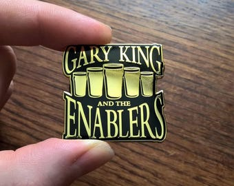 Gary King and the Enablers - The World's End - Cornetto Trilogy - Black & Gold Enamel Pin