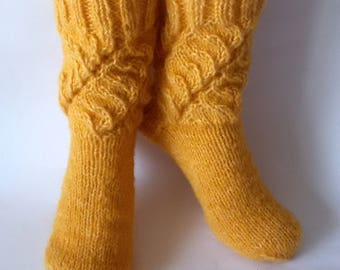 Women's Socks Wool Socks in Yellow Gift for women
