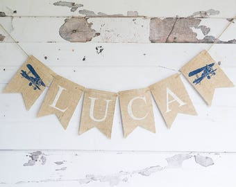 Vintage Airplane Party Decor, Vintage Airplane Birthday Garland, Plane Birthday Decor, Personalized Airplane Decoration, Plane Party, B689
