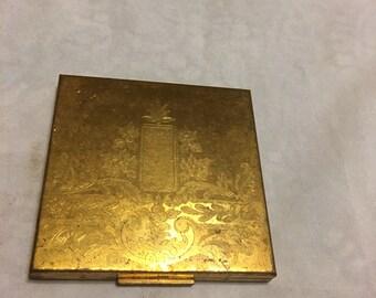 Elgin American vintage powder compact with powder door and mirror