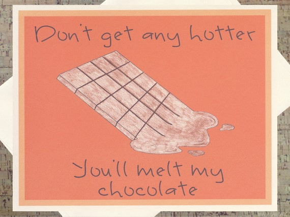 Chocolate card funny romance card funny love card funny