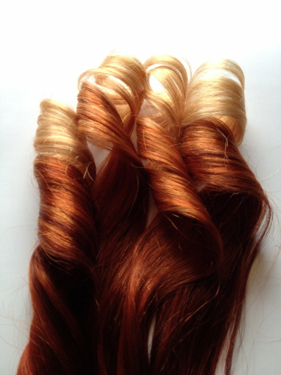 Red Ombre Hair To Copper 100 Human Hair Extensions Keratin