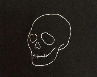 Embroidered skull, Embroidery tshirt