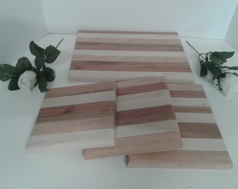 Cutting board and hot plate set