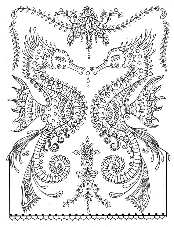 ocean dragon coloring pages - photo#27