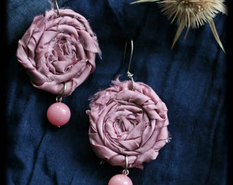 Pink Romantic Flower Earrings