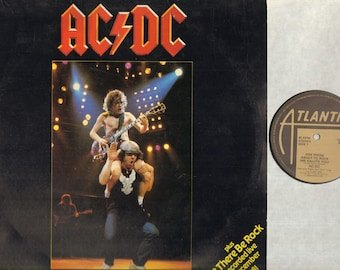 """AC/DC For Those About To Rock 12"""" Vinyl Record Single Ps, B/W Let There Be Rock-Full Length Version-Live, K 11721"""