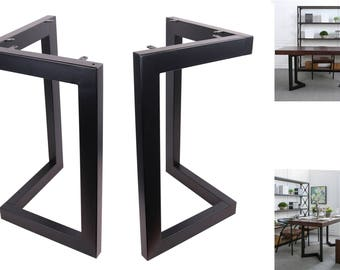 "High Quality 28"" Dining Table Legs, L-shaped Steel table legs, Office Table Legs,Computer Desk Legs,Industrial kitchen table legs,Black"