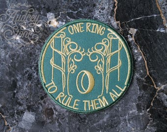Lord of the Rings Fan Patch | Embroidered | Patches | The Hobbit | One Ring To Rule Them All | Frodo | Bilbo | Baggins | Gates of Moria