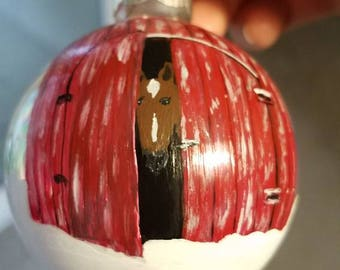 Horse Ornament, Dressage ornament, Christmas Horse Bulb, Equestrian Christmas, Horse gift, Equestrian Gift, Animal Ornaments, Horse Decor