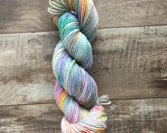Hand Dyed Sport Weight Yarn, Superwash Merino Wool - Dragonfly Wing (Ready to ship)