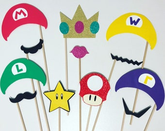 Super Mario inspired photo booth props