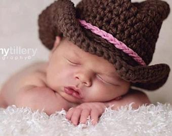 Made to Order Newborn Cowboy hat  Photo prop