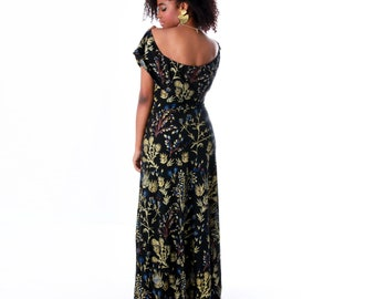 Maxi Dress - Off the Shoulder - Flutter Top - Organic Cotton - Summer Wedding - Maxi - Long Dress - Floral - Slow Fashion - Thief&Bandit®