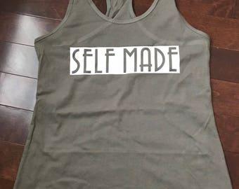 Self Made fitness motivation tank top