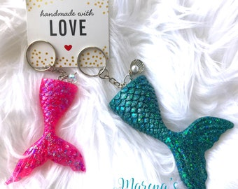 Mermaid Keychain/ Mermaid gift/ Mermaid Tail