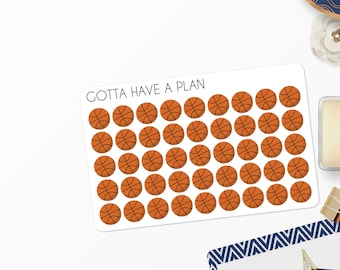 Planner Stickers Basketball for Erin Condren, Happy Planner, Filofax, Scrapbooking