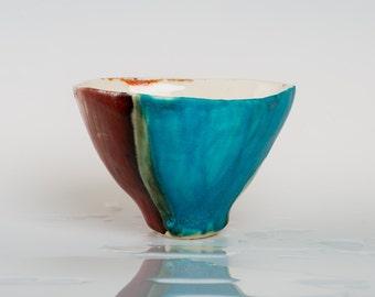 FRANCESCA - Porcelain bowl, unique, handmade, OOAK