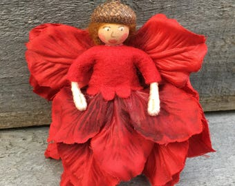 Red flower fairy