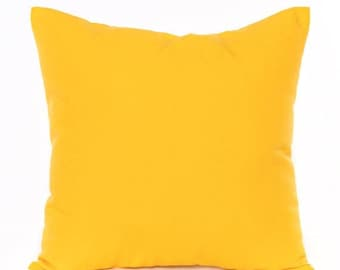 Yellow Solid Throw Pillow Cushion Cover Solid Yellow ALL SIZES Couch Pillow Bed Pillow Yellow Nursery Pillow Yellow Accent Throw Pillow