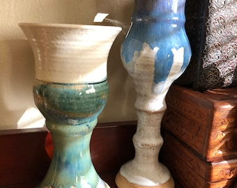 Handmade stoneware goblets set of 2