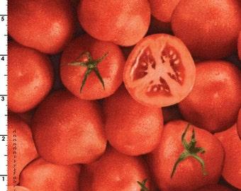 Tomato Quilt Fabric, Vegetable Fabric, Farmers Market 453 RJR Fabrics, Vegetable Fabric, Kitchen Decor, Apron Fabric, Food Fabric, Cotton