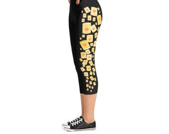 Tangled Floating Lanterns - Capri Leggings // original design by Brand By You