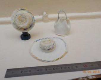 Miniature 1/12th wedding bag or hat