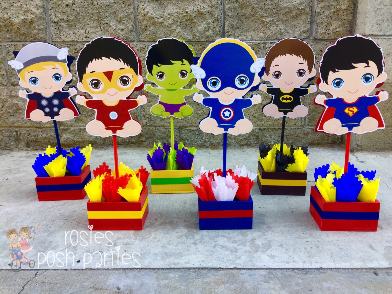 baby super hero centerpiece for baby shower or birthday wood decoration for birthday baby boy decoration for birthday boy
