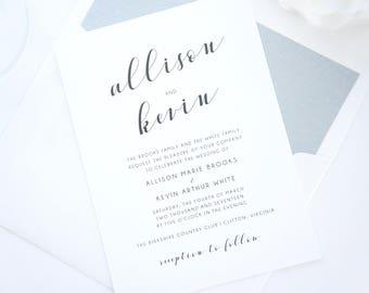 Mint wedding invite etsy modern script wedding invitations wedding invitation set custom wedding invitations calligraphy wedding invitation sample set stopboris Image collections