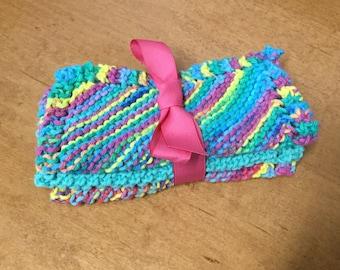 Hand Knit 100% Cotton Dishcloth-Set of 3