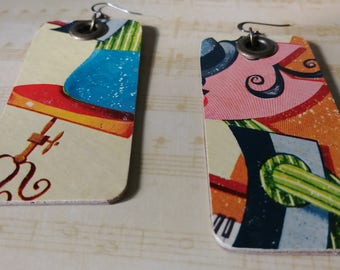 Like Music to my Ears! Handmade Reversible Piano Earrings Made From Vintage Record Covers // Recycled repurposed Jewelry